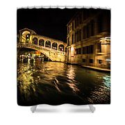 Night On The Grand Canal Shower Curtain