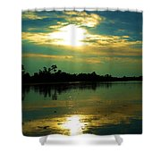 Night On The Water Shower Curtain