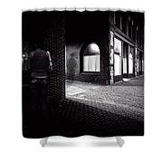 Night People Main Street Shower Curtain by Bob Orsillo