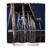 Night Pier Shower Curtain
