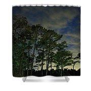 Night Pines Shower Curtain