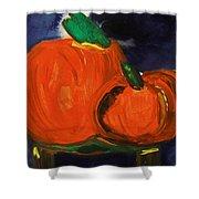Night Pumpkins Shower Curtain