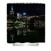 Night Reflections I Shower Curtain