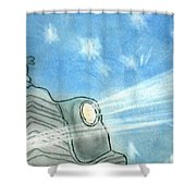 Rolls Royce Night Shower Curtain