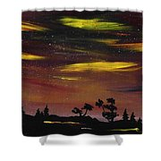 Night Scene Shower Curtain