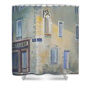 Night Scene In Arles France Shower Curtain