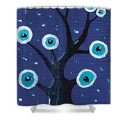 Night Sentry Shower Curtain