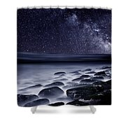 Night Shadows Shower Curtain