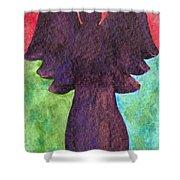 Night Shift Angel Shower Curtain
