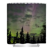Night Sky With Northern Lights Display Shower Curtain