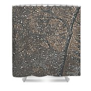 Night Snow Series Bianco Shower Curtain