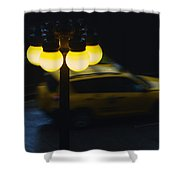 Night Taxi Shower Curtain