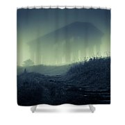 Penshaw Monument At Night Shower Curtain