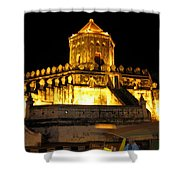 Night Temple Shower Curtain