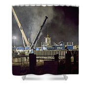 Night Time Frac Shower Curtain