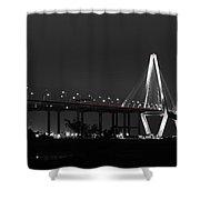 Night Time On The Bridge Shower Curtain