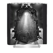Night Train On The Move Shower Curtain