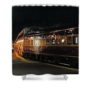 Night Train Shower Curtain
