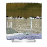 Night View Of Lafitte Bay Dauphin Island Alabama Shower Curtain