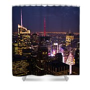 Night View Of New York Shower Curtain