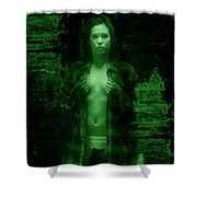 Night Vision Woman Shower Curtain