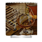 Nightcap Shower Curtain by Cory Still