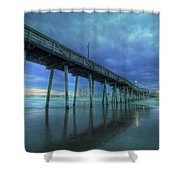 Nightfall At The Pier Shower Curtain