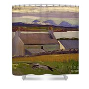 Nightfall  Iona Shower Curtain by Francis Campbell Boileau Cadell