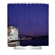 Nightfall Over Istanbul Shower Curtain