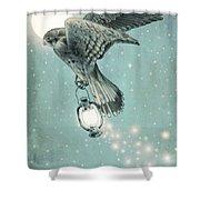 Nighthawk Shower Curtain by Eric Fan