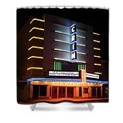 Nightime Shot Of Kilgore Crim Theater Shower Curtain