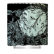 Nightingale Song. Part Three Shower Curtain