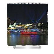 Nightlife At Clarke Quay Singapore Shower Curtain