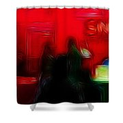 Nightlife  Shower Curtain