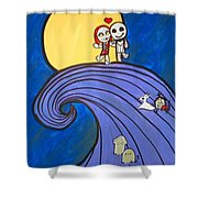 Nightmare Before Christmas Hill Cute Shower Curtain