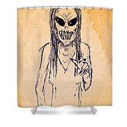 Nightmare Sketch Shower Curtain