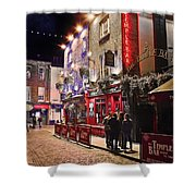 Nights In The Temple Bar Shower Curtain