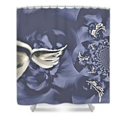 Nights In White Satin Shower Curtain by Absinthe Art By Michelle LeAnn Scott