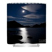 Nights In White Satin Shower Curtain by Heiko Koehrer-Wagner
