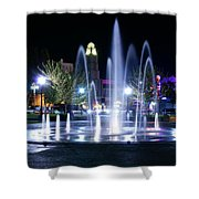 Nighttime At Chico City Plaza Shower Curtain
