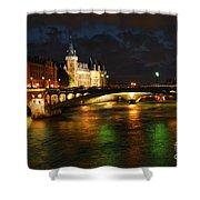 Nighttime Paris Shower Curtain