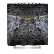 Nighttime Water Tumble Shower Curtain