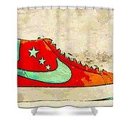 Nike Blazer Orange Shower Curtain by Alfie Borg
