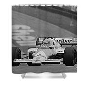 Niki Lauda. 1984 British Grand Prix Shower Curtain