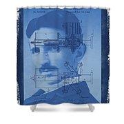 Nikola Tesla Shower Curtain