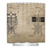 Nikola Tesla's Electrical Generator Patent 1894 Shower Curtain