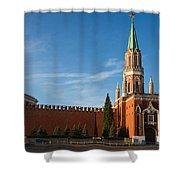 Nikolskaya - St. Nicholas - Tower Of The Kremlin Shower Curtain