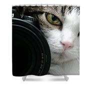 Nikon Kitty Shower Curtain by Andee Design