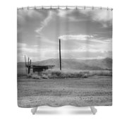 Niland Boat Launch Shower Curtain