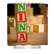 Nina - Alphabet Blocks Shower Curtain